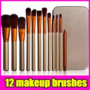 N3 Pennello professionale 12 pezzi Pennello cosmetico per il trucco del viso Kit di spazzole in metallo Spazzole per cipria