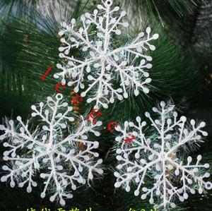 السحر صديقة للبيئة شجرة عيد الميلاد ندفة الثلج الحلي الأبيض عيد الميلاد عيد الميلاد ندفة الثلج الديكور الحلي زين للشجرة