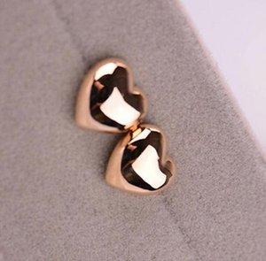 Même style avec T, Boucle d'oreille avec haricots coeurs, or rose et argent, livraison gratuite et de haute qualité