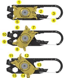 50 pcs FIXR Bolso Utilitário Portátil de Esportes Ao Ar Livre 20 em 1 Multifuncional Chave Chave De Fenda Abridor EDC Sobrevivência Chaveiro Ferramenta Atacado