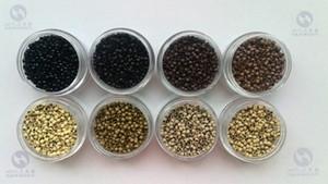 Nano Links forrado de silicone de cobre, RingsTubes Para Extensões de Cabelo Nano 7 cores 1000 pcs Cada cor Frete grátis