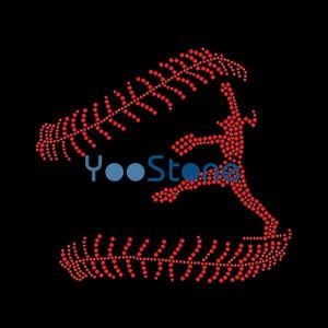 Горный Хрусталь Бейсбол Передачи Железа На Горячей Исправить Аппликация Исправление Мотив