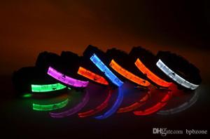 Yanıp sönen LED köpek yaka Evcil yaka Köpek Işıkları Flaş Gece Güvenlik Yaka LED Yaka Köpek Boyun Tasması Ayı Baskılı Perakende Satış
