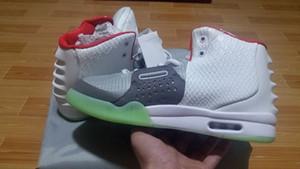 Zapatillas de deporte para hombre Kanye West II 2 NRG Wolf Gris Zapatillas de baloncesto de platino puro, talla 41-46