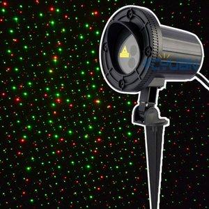 Luces láser de Navidad al aire libre Rojo Verde Impermeable Estático Firefly Proyector de luz Jardín de vacaciones ley 110 v Elfo Proyector de luz
