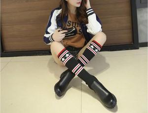 2017. أحذية نسائية. شتاء. الجديد. متوسط. الأحذية تمتد. أحذية الطلاب. الأحذية عارضة الأزياء. Girl.Knee Boots.Thigh أحذية عالية.