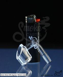 DHL ücretsiz DabWorthy Kalın Tarzı Kuvars Banger 4mm kalın kulüp banger domeless kuvars tırnak 10mm / 14.5mm / 18.8mm erkek / kadın, bong su boruları