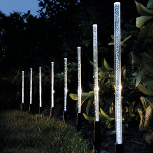 8PCS الطاقة الشمسية أنبوب أضواء مصابيح الاكريليك فقاعة المسار الحديقة المناظر الطبيعية الديكور حديقة عصا حصة ضوء مصباح مجموعة
