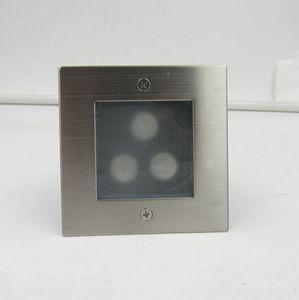Il prezzo all'ingrosso 3W Piazza della parete del LED luce esterna impermeabile IP68 3W della maglia d'acciaio Pathway LED Light Path gradino Wall Garden Yard Lamp