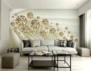 TV parede wallpaper quarto Europeia sala 3 tridimensional flor jóias flor azul grande mural