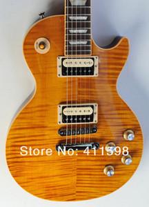 Uscita chitarra OEM di nuovo arrivo Slash Appetite standard Ambra Flame Maple Top chitarra elettrica corpo di mogano posteriore nero Cina chitarra fabbrica