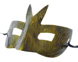 2017new Männer retro Greco-Roman Gladiator Maskerade Masken Vintage Golden / Silber Maske Silber Karneval Maske Mens Halloween Kostüm Party Maske