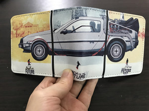 Regreso al futuro Película de anime Niños niñas Monedero Caricatura Estudiante cartera corta bolsa de monedas titular de tarjetas de crédito carteira masculina