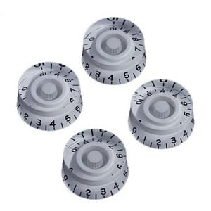 4 PCS bouchon bouton de guitare électrique LP guitare volume sonore bouton bouton potentiomètre bouchon Droite blanc noir