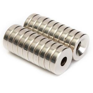 60pcs N50 12x3mm Strong Magneti ad anello svasato 4mm Foro al neodimio a terre rare