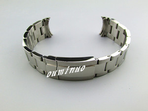 20 milímetros NOVO prata sólida final 316L Curvo puro aço inoxidável (polido + escovado) terminou as faixas de relógio pulseiras para relógio Rolex