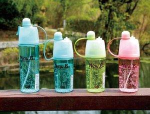 Nueva botella de agua 600ML My Water sport Spray bottle 400ml Ciclismo exterior coctelera Hidratante Transparente Travel Plastic Water Camping Drinkware