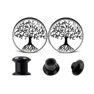 1 쌍의 매력 Dream Tree Ear Expander 리머 팽창 Tragus Ear Plugs 터널 게이지 Real Septum Ear for Women 남성 바디 쥬얼리
