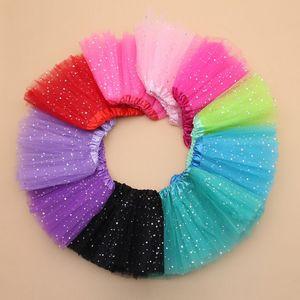 10 Color 2016 Girls Glitter Ballet Dancewear Falda Tutu Girls Bling Lentejuelas Tul Tutu Faldas Princesa Dressup Faldas K7158 BJ
