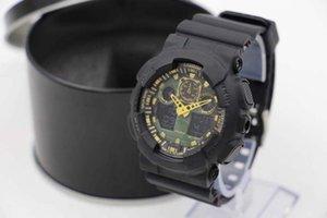 Hot ga100, montre-bracelet relogio à LED pour femme, montre de camouflage militaire, montre numérique avec boîte