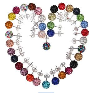 Klassische Diamant Shambhala-Ohrstecker für Frauen DFMTE21 Micro Disco Ball-Ohrringe Schmuck 24 Paare viel