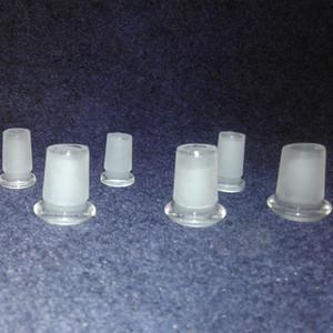 En gros 18 à 14 Verre Réducteur à profil bas Adaptateur 14 mâle à 10 femelle Givré Borosilicate Verre Connecteur à Fente Creuse Diffuseur