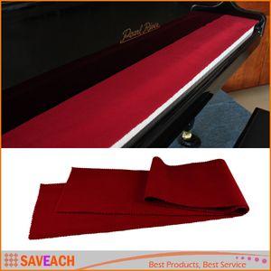 Hohe Qualität Weiche Wolle Piano 88 Tastaturen Schutz Schmutzfeste Abdeckung Durable Pure Color Rot Piano Staubschutz