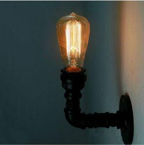 Loft llevó luces de pared Retro apliques de pared Industrial para Bar Home Via Decor E27 Forma de tubo de hierro American Vintage Iluminación de pared