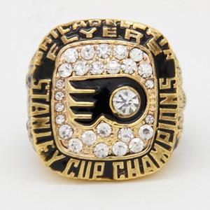 2017 heißer Verkauf Sport Schmuck 1975 Philadelphia Flyer Stanley Cup Championship Ring Für Männer, Hochzeit Gold Band Ring