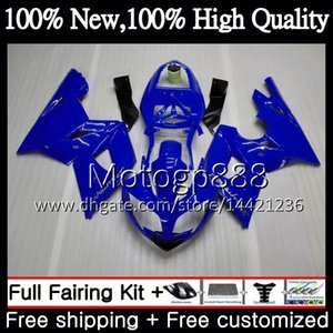 Triumph İçin Vücut Daytona 600 03 05 650 03 04 05 Daytona600 6PG12 Daytona650 Daytona 650 600 2003 2004 2005 04 Açık mavi Kaporta