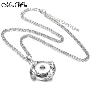 Nuevo Ginger Crystal 18mm Snap Colgante Collar Cordón Snap Collar Para Mujeres Fit 18mm Snap Buttons Summer Jewelry Statement