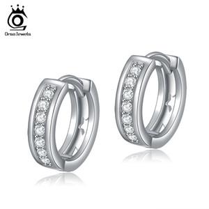 ORSA Jóias New Arrival Clássico Pequeno Brinco de Argola para As Senhoras de Prata Banhado A Platina Hot Sale Earrings OE101