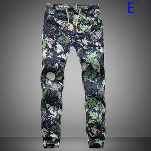 Toptan-Erkekler Keten Pantolon Yeni Tasarım Yeni O Günleri Pantolon Erkekler Rahat Dekore Harem Erkek Joggers Uzun Tarzı Çiçek Baskı Pantolon 19