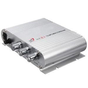 Envío gratuito Mini Hi-Fi CD MP3 Radio Auto Auto Motocicleta Audio para el hogar Estéreo Bass Speaker Amplificador Boostrer Player 12 V 200 W