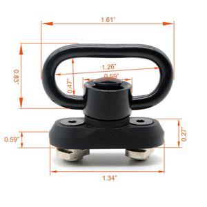 New Handguard 1.25 '' QD Sling Giratória Adaptador de Montagem Para M-LOK Handguard Ferroviário Frete Grátis