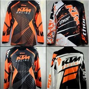 브랜드 -KTM Motocross 유니폼 T 셔츠 OFF ROAD 오토바이 자전거 사이클 유니폼 통기성 운동복 MTB 다운 힐 저지 빠른 건조