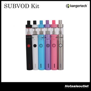 Authentique Kangertech SUBVOD Starter Kit Nano S Réservoir 1.9ML avec 1300mAh Batterie SUBVOD Le plus récent kit de sub-ohm Vaping