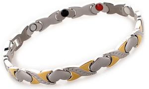 Moda corazón cruz amor forma plata oro energía saludable pulseras, germanio magnético pulsera joyería envío gratis