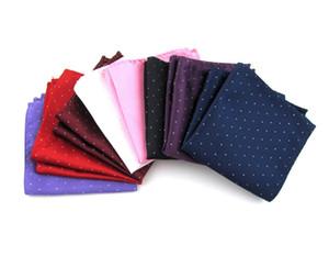 fazzoletto da taschino da uomo a mano tasca quadrata asciugamani dot striscia accessori formali stampati asciugamano fazzoletto asciugamano 5pcs / lot