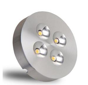 Фабрика Оптовой 12W серебристых Диммируемого LED Puck Light Теплый природный Холодный белый светодиод при Кабинете Светится Для дома / Коммерческие светодиодной Puck Огней