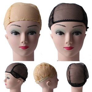 10pcs Breathable Wig Cap Hairnet Adjustable Nylon Weaving Mesh Wig Caps With Lace Straps For Making Wig 2 Colors other Hair care products