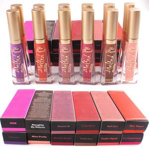 Venta caliente nuevo Melted Matte 12 colores maquillaje cosmético brillo labial duradero lápiz labial líquido impermeable