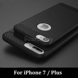 iphone7 i7 플러스 TPU 소프트 커버 케이스 갤럭시 S7 S7 가장자리 J7에 대 한 iphone6 탄소 섬유 브러쉬 견고한 갑옷 전화 쉘