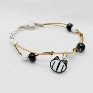 Céramique originale Nouveau style chinois Cat Bracelet pour les femmes Bonne chance Vintage Charms Lapin mignon Bracelet Femme Bijoux chanceux filles cadeau