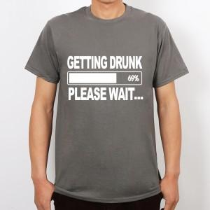 Wholesale-Getting Drunk Beer Stag Party Gift Funny Mens T Shirt More Size and Colors