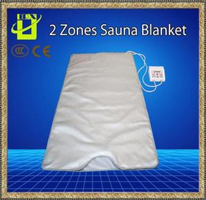 Лучшее качество инфракрасная сауна одеяло 2 зоны ели далеко похудения отопление СПА-терапия потеря веса портативный детокс красоты Оборудование Луч тепла новый