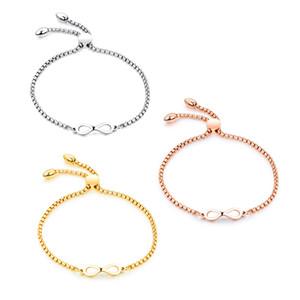 Frauen-Unendlichkeits-Armband-Charme-Armband-Edelstahl-Schmucksache-Kreuz-Stulpe-Armband-justierbare Engels-Flügel-Feder-Kettenarmband für Damen