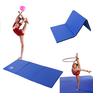 Ginnastica Mat spessore 3 pieghevole pannello palestra Fitness esercizio blu
