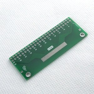 0.5mm 1mm FFC 50pin To DIP50 adapter plate PCB Apply to TFT LCD JACK Free shipping 10 pieces lot