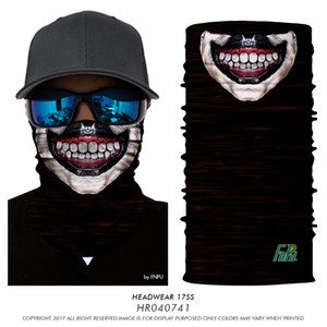 3D Halloween Cachecol Bandanas Cavaleiro da Morte Pirata Crânio Esqueleto Ghost Ski Ciclismo Headwear Motocicleta Pescoço Bandana 77